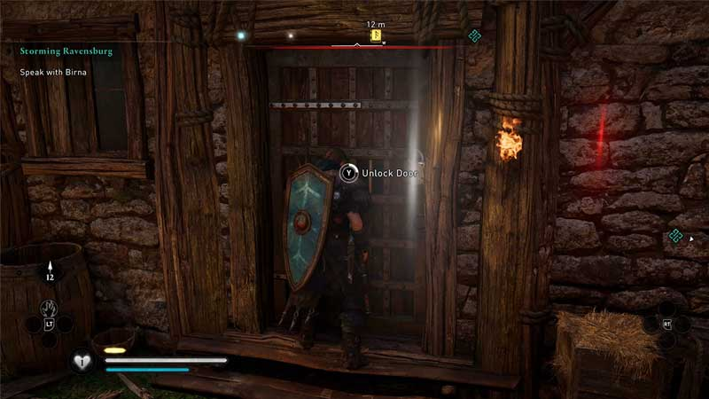 how to enter barred doors in assassins creed valhalla