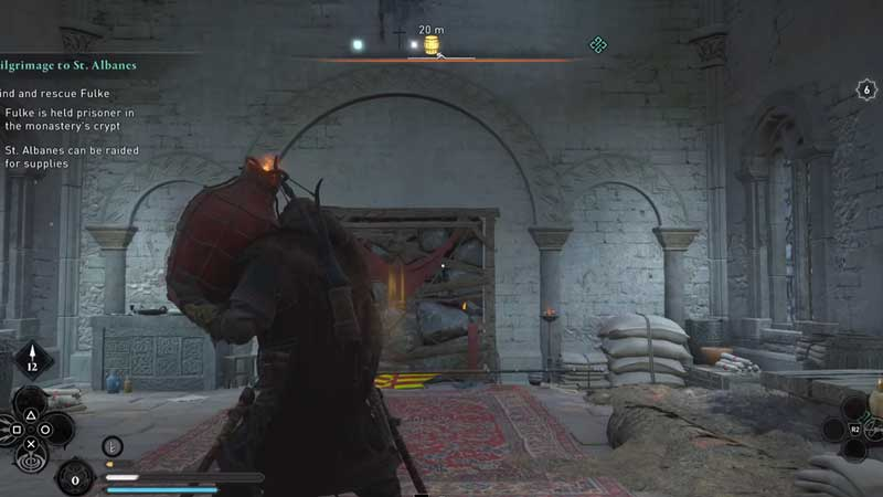 completing saint albanes abbey raid in assassin's creed valhalla