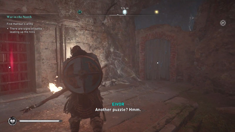 destroy wooden planks in wiccan's cave to get treasures of britain in assassin's creed valhalla