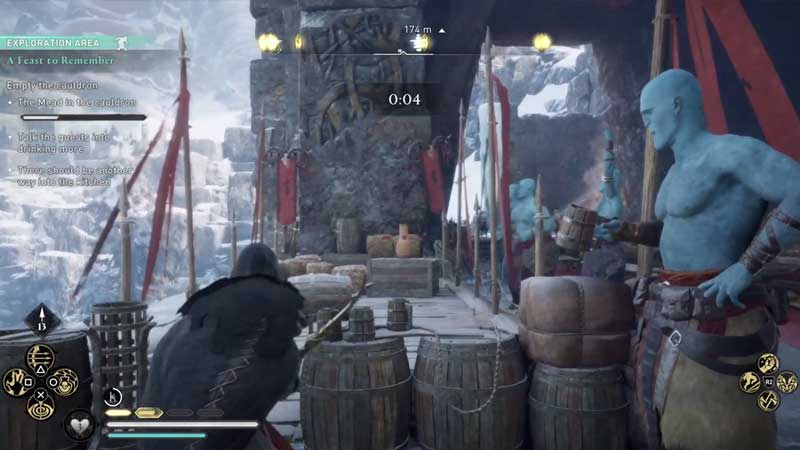 drunken archery contest in a feast to remember quest in assassin's creed valhalla