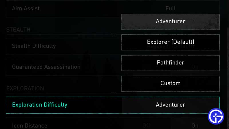 exploration-difficulty-settings