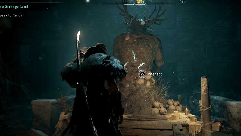 how to activate the three slot statue in assassin's creed valhalla