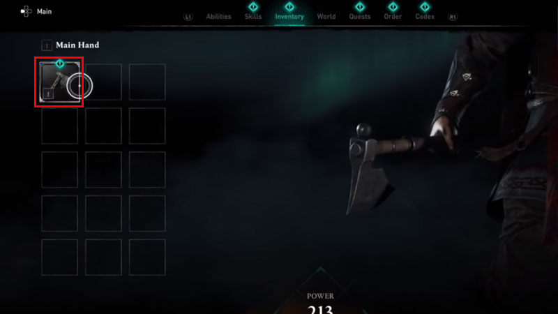 how to unequip weapons in ac valhalla