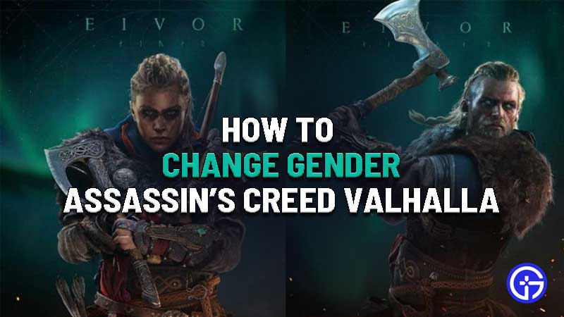 how to change gender in assassins creed valhalla