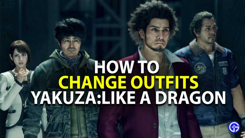 how to change outfits in yakuza like a dragon