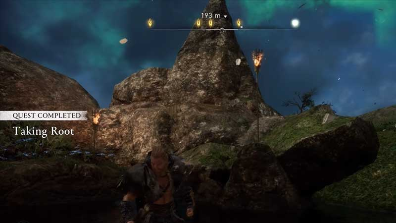 how to collect the root of a mountain in assassin's creed valhalla