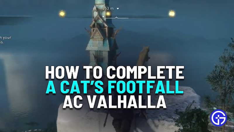 how to complete a cats footfall quest in assassins creed valhalla