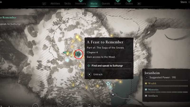 how to complete a feast to remember quest in assassin's creed valhalla