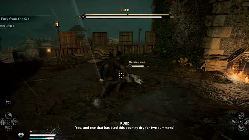 how to defeat rued in ac valhalla