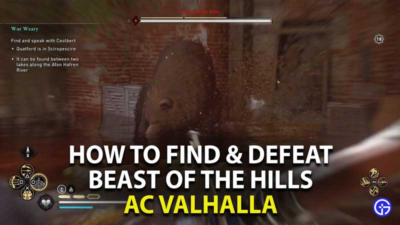 how to find and defeat beast of the hills in assassin's creed valhalla