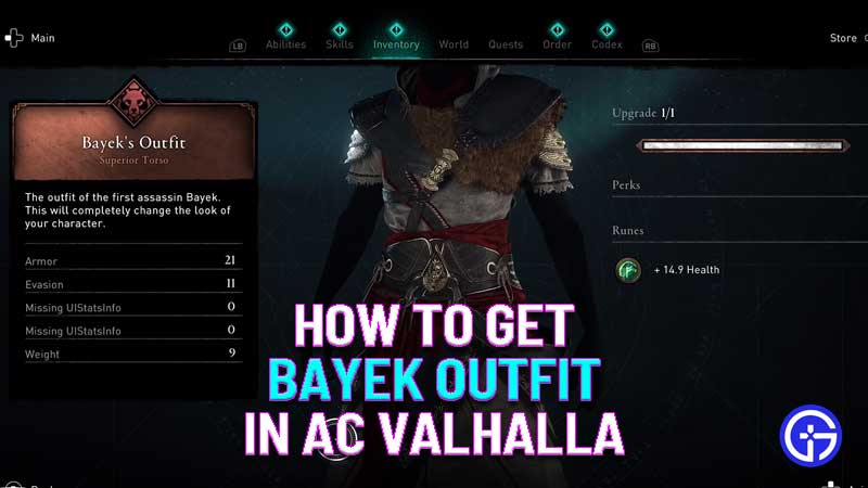 how to get bayek outfit in ac valhalla