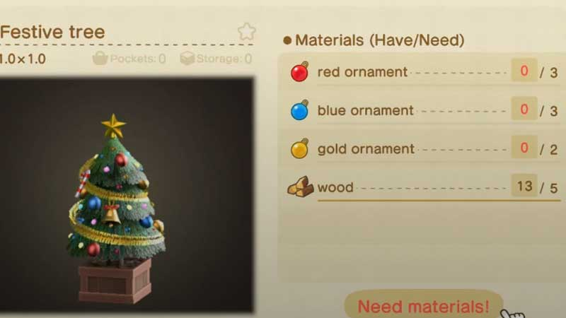 how-to-get-festive-tree-animal-crossing-new-horizons