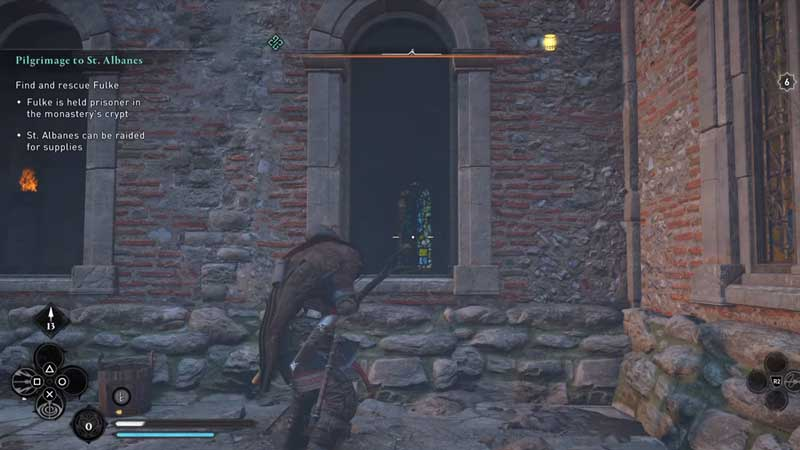 how to get inside the chamber in saint albanes abbey raid
