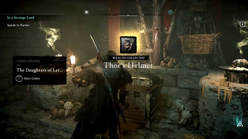 how to get thor's helmet in assassin's creed valhalla