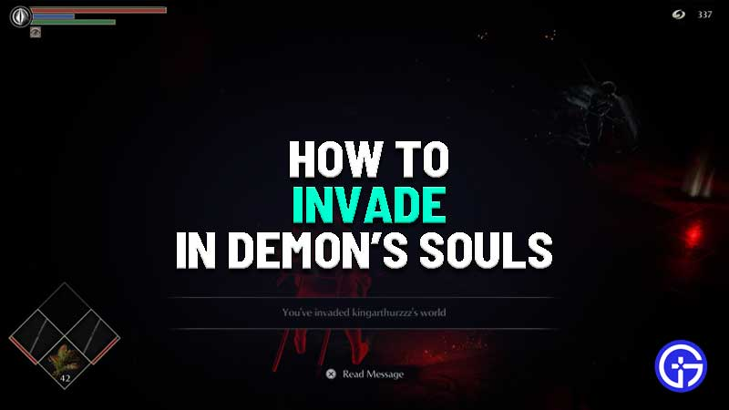 how to invade in demon's souls ps5