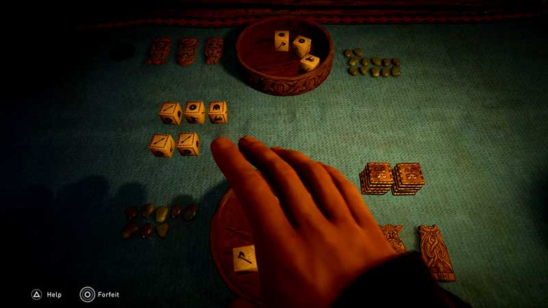 how to play the dice game in ac valhalla
