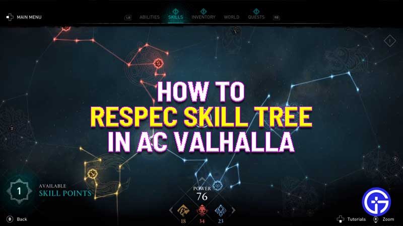 how to respec your skill tree in assassin's creed valhalla