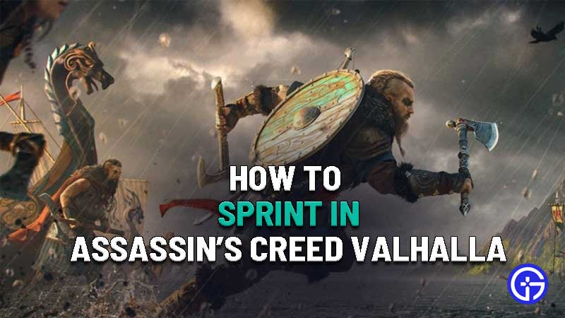 how to sprint in assassins creed valhalla