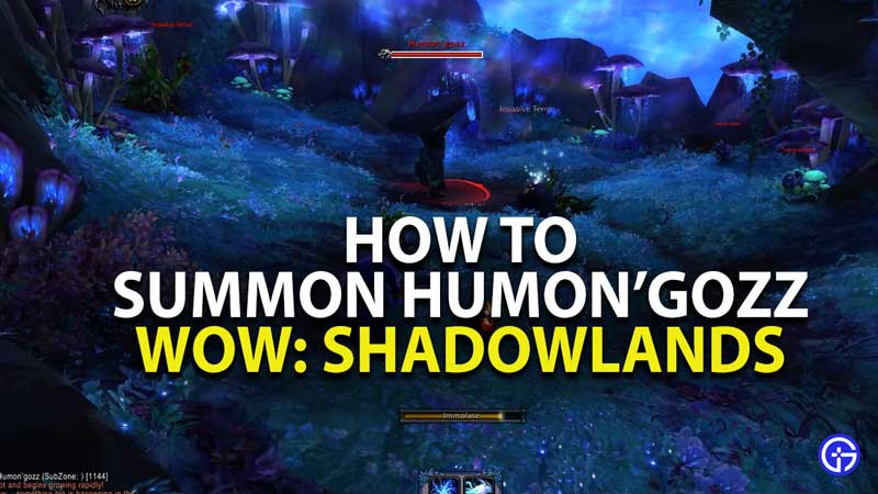 how to summon humon'gozz in world of warcraft shadowlands