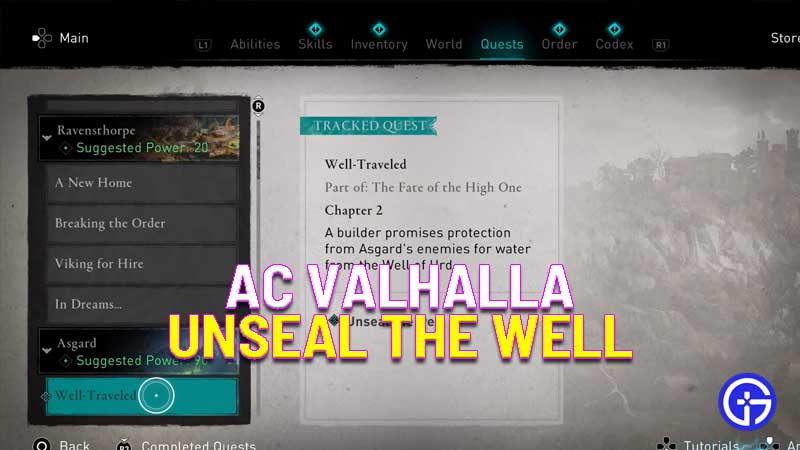 how to unseal the well in assassin's creed valhalla