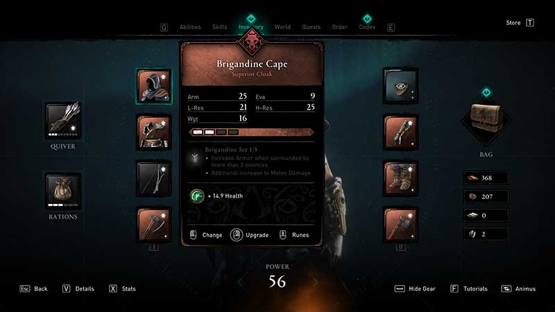 how to upgrade weapons and armor equipment in ac valhalla