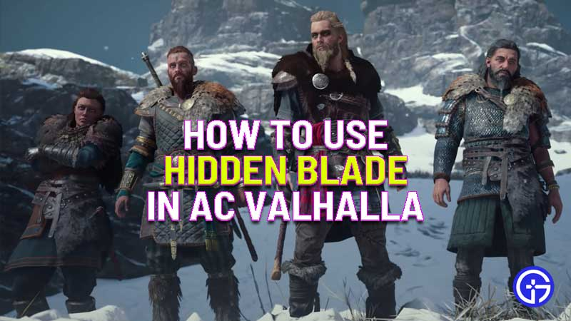 how to use hidden blade in assassin's creed valhalla