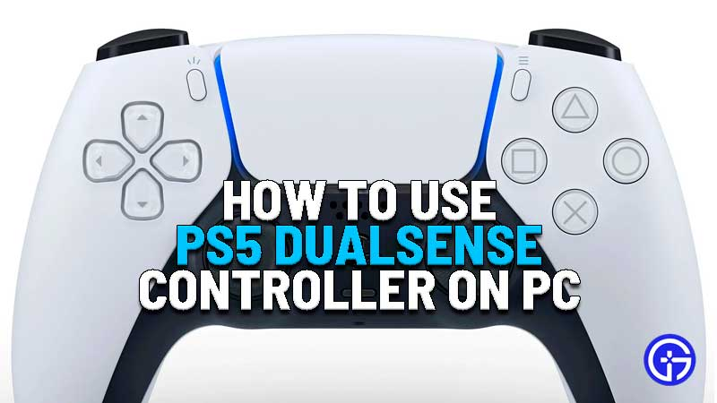 how to use ps5 dualsense controller on pc