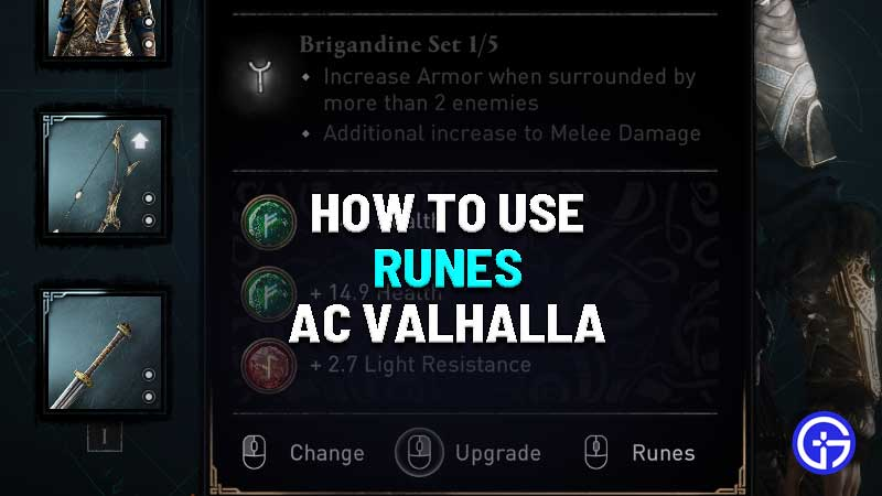 how to use runes in assassins creed valhalla