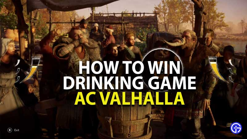 how to win drinking game assassins creed valhalla