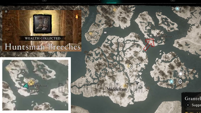 AV Valhalla Huntsmen's Armor Piece 2 Location
