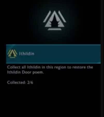 Ithildin doors Poem Puzzle