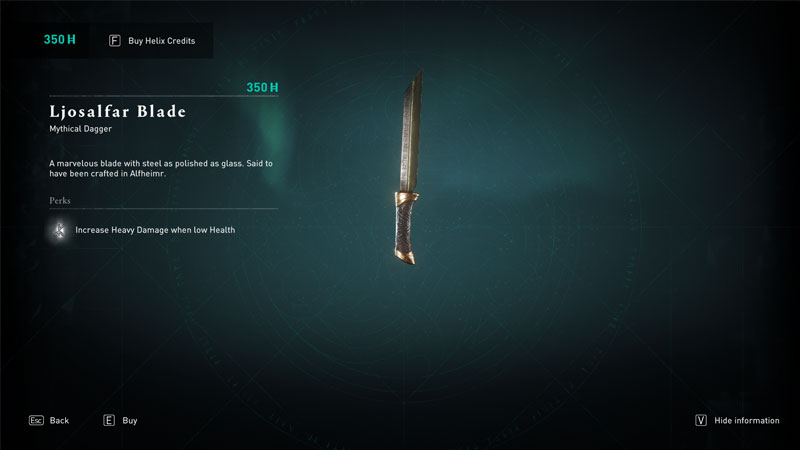 how to get ljosalfar blade mythical weapon in ac valhalla
