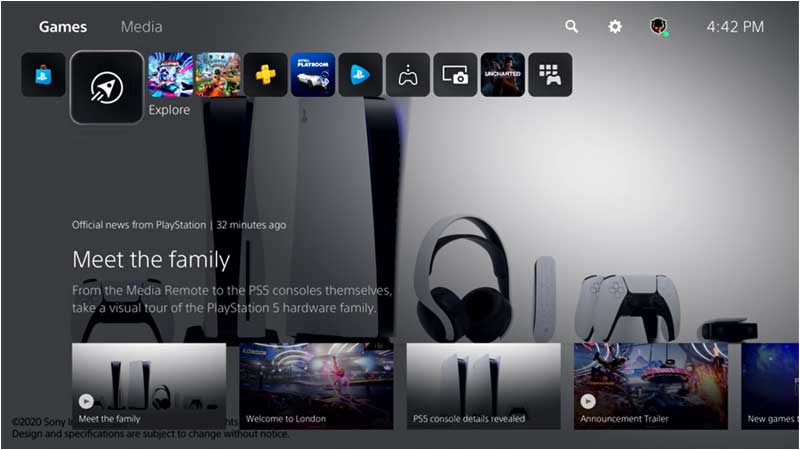 PS5 New Theme