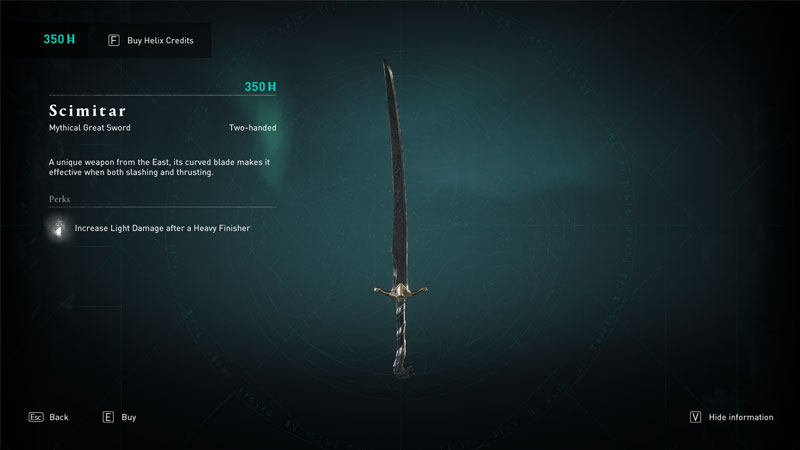 scimitar mythical weapon