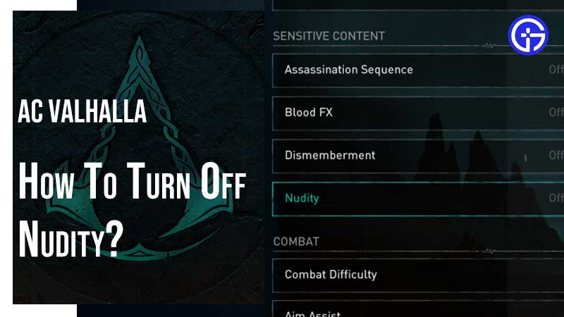 AC Valhalla Sensitive Content Settings