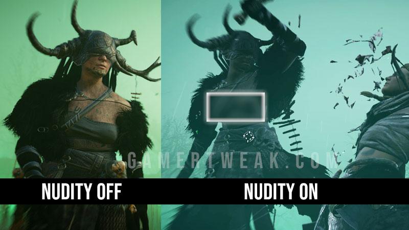 Vahalla Nudity Settings
