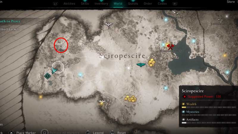 where is wesberie location in assassin's creed valhalla