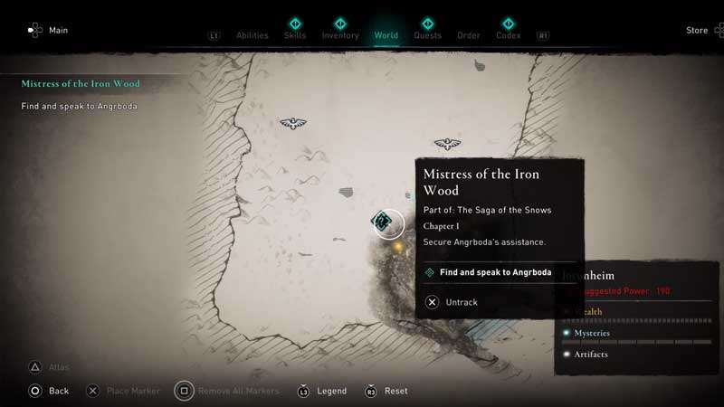 where to find and speak to angrboda in assassin's creed valhalla