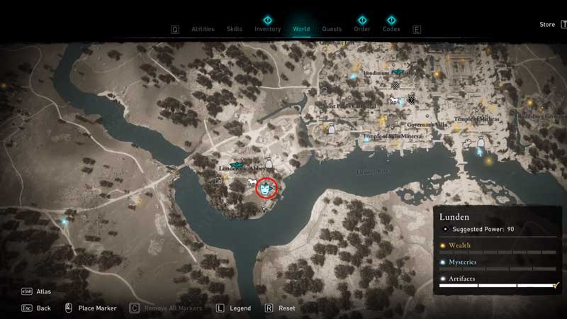 where to find augusta the cheerful flyting challenge location in assassin's creed valhalla