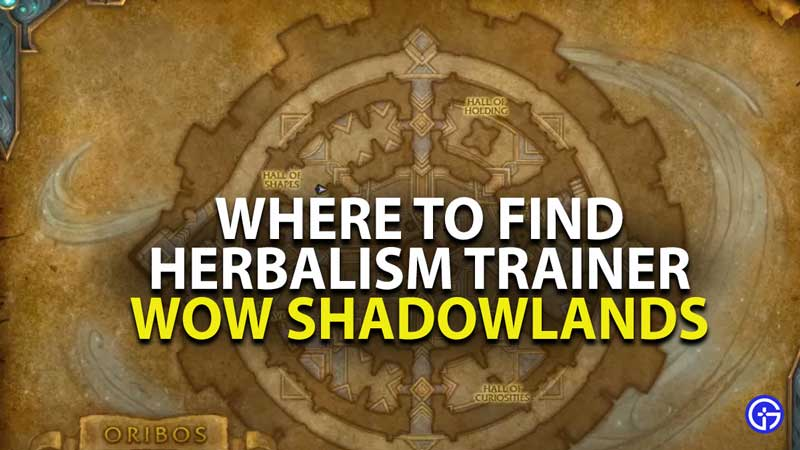 where to find herbalism trainer in oribos in world of warcraft shadowlands