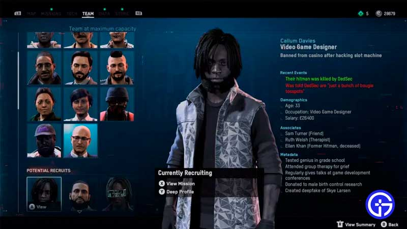 where to find video game designers in watch dogs legion