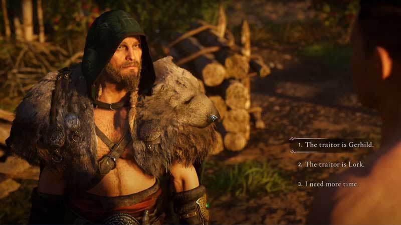 who is rollo's traitor lork or gerhild in assassin's creed valhalla