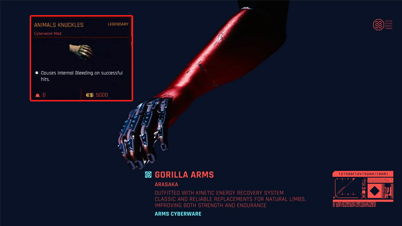 Animal Knuckles Mod Gorilla Arms CP2077 Guide