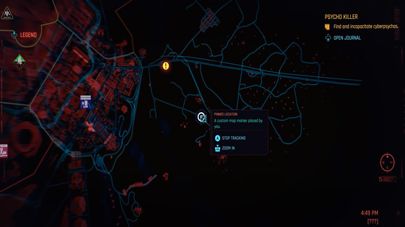 Cyberpunk 2077 Cyberpsycho Location
