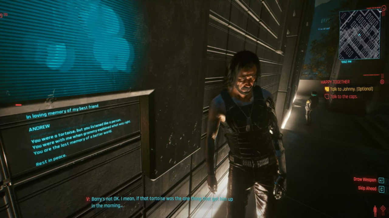 Cyberpunk 2077 Happy Together side quest andrew's niche