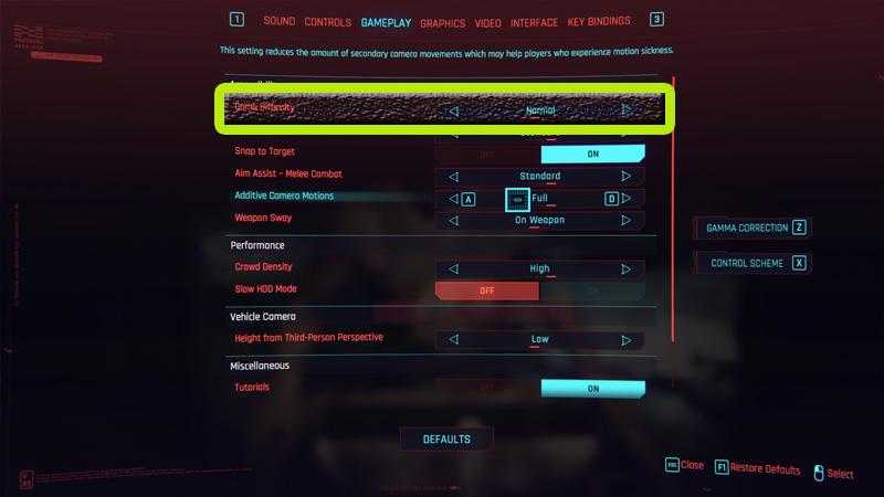 Cyberpunk 2077 Difficulty Settings
