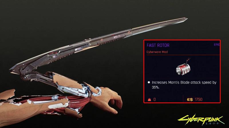 Cyberpunk 2077 Fast Rotor Mantis Blades Mod Guide