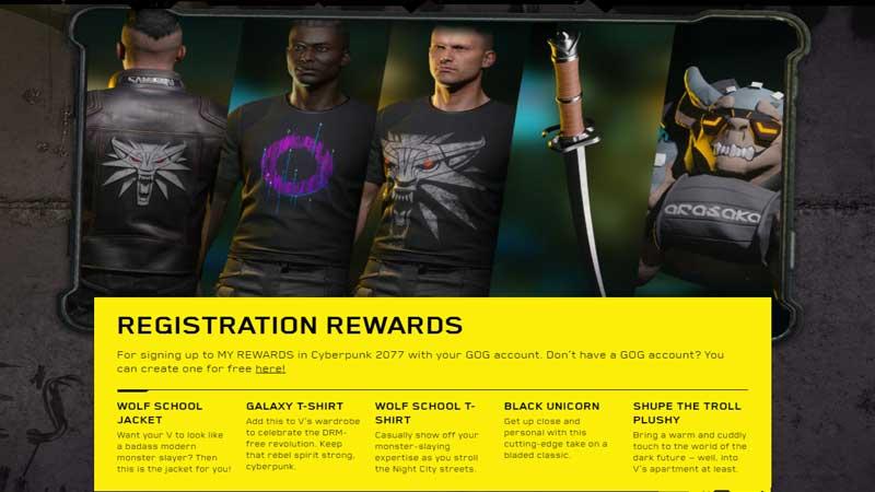 Cyberpunk 2077 Free Rewards