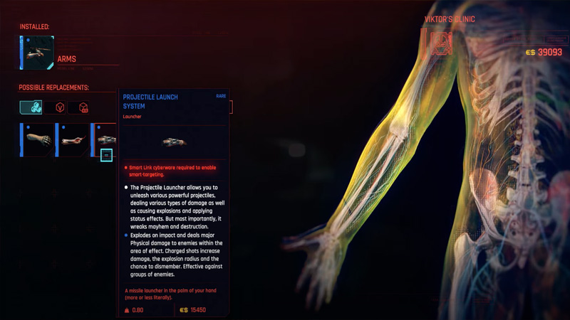 Cyberpunk 2077 Missile Launcher