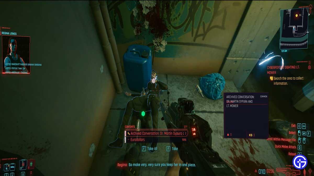 Cyberpunk 2077 Sighting Lt Mower Defeat Guide